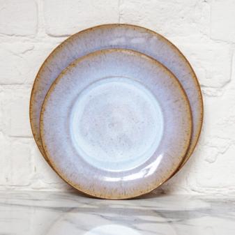 Тарелка круглая с полями из каменной керамики