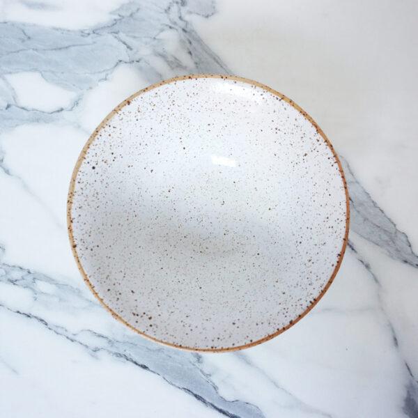 Миска тюльпан из каменной керамики White Hawaii