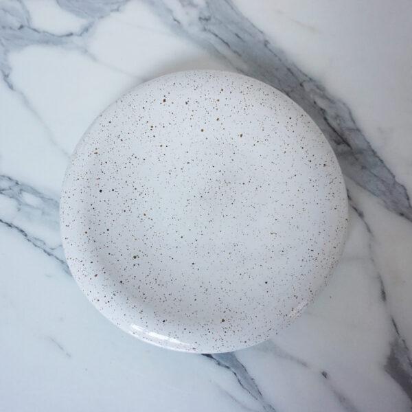 Керамическая Тарелка ручной работы Bagel White Hawaii