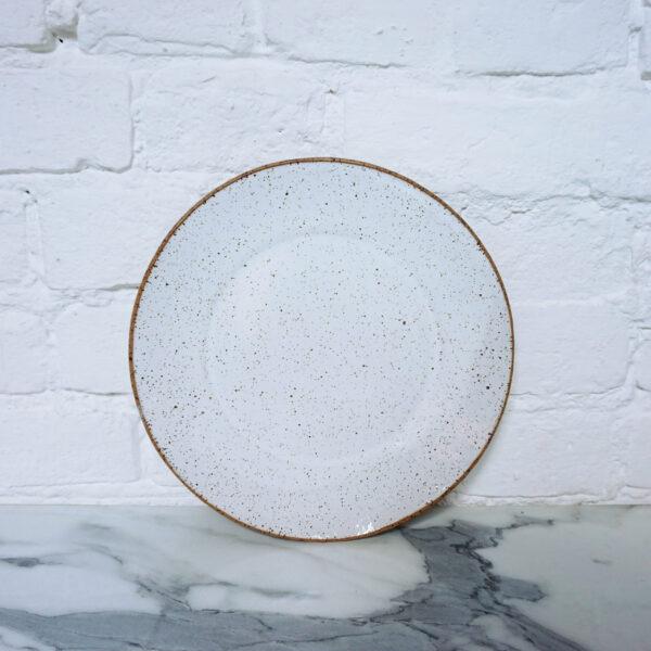 Тарелка с полями из керамики White Hawaii