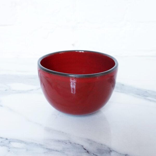 Миска боул для завтрака из керамики Бали Red