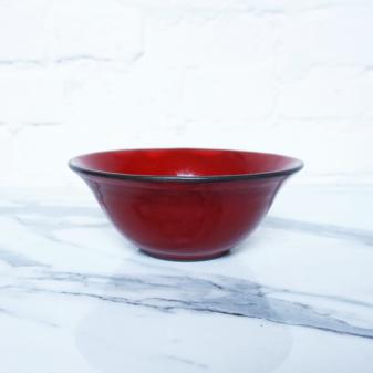 Керамическая Миска тюльпан Бали Red