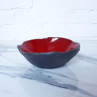Миска из керамики Этно Бали Red