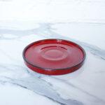 Блюдце из керамики Кантри D150 Red