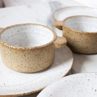 Горшочек для запекания из керамики White Hawaii